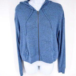 Prince & Fox blue heathered zip up casual hoodie M